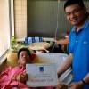 PTSC M&C trao 50 triệu đồng  ủng hộ gia đình cháu bé sống sót thần kỳ sau vụ tai nạn xe bồn