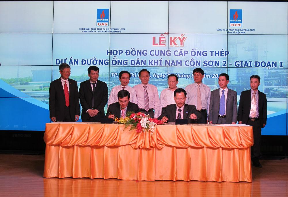 Ký hợp đồng cung cấp ống thép đường ống dẫn khí Nam Côn Sơn 2