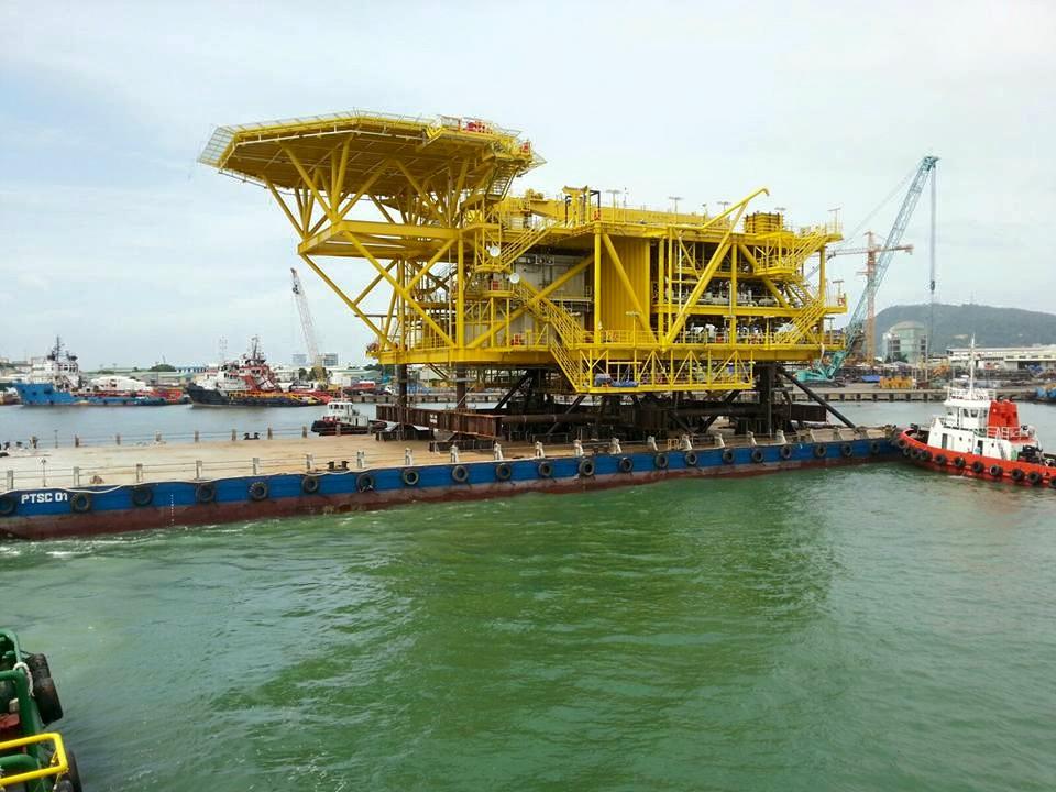 Hạ thủy khối thượng tầng giàn khai thác TGT H5