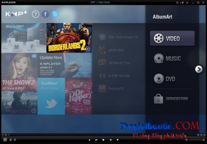 KMPlayer 4.0.1.5 – Nghe nhạc, xem phim chất lượng cao