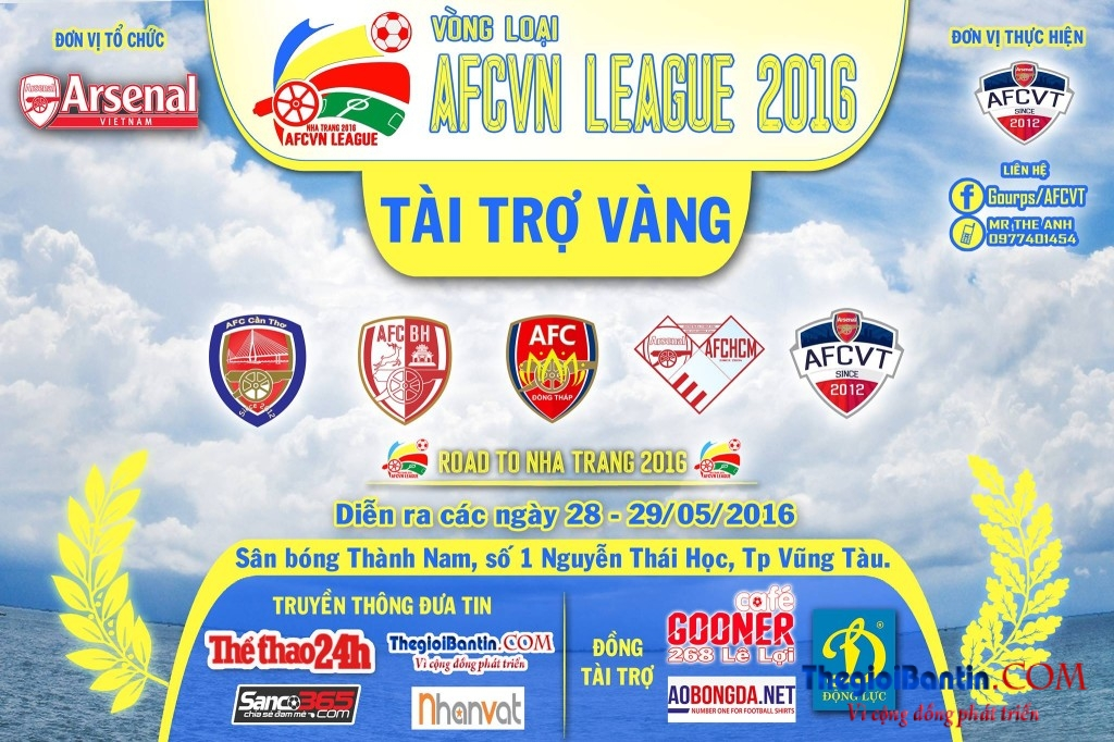 Arsenal Cup Mien nam 2016