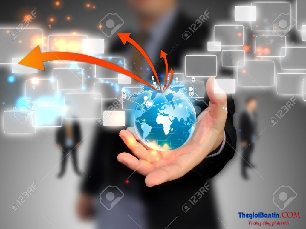 11779105-Businessman-holding-social-network--Stock-Photo-businessman-technology-world