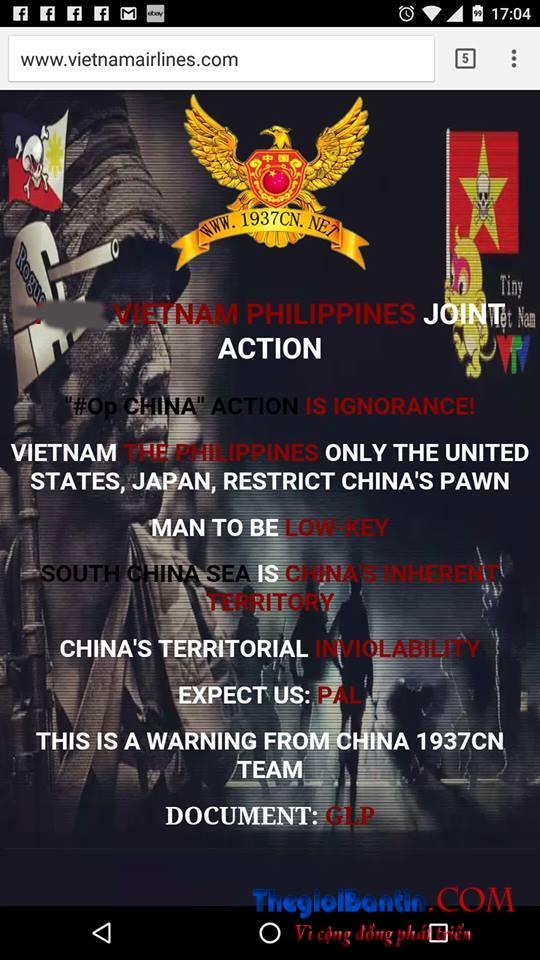 Hacker TQ tan cong VietnamAirline 3