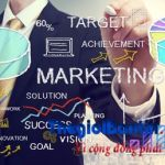 Businessman drawing marketing concepts
