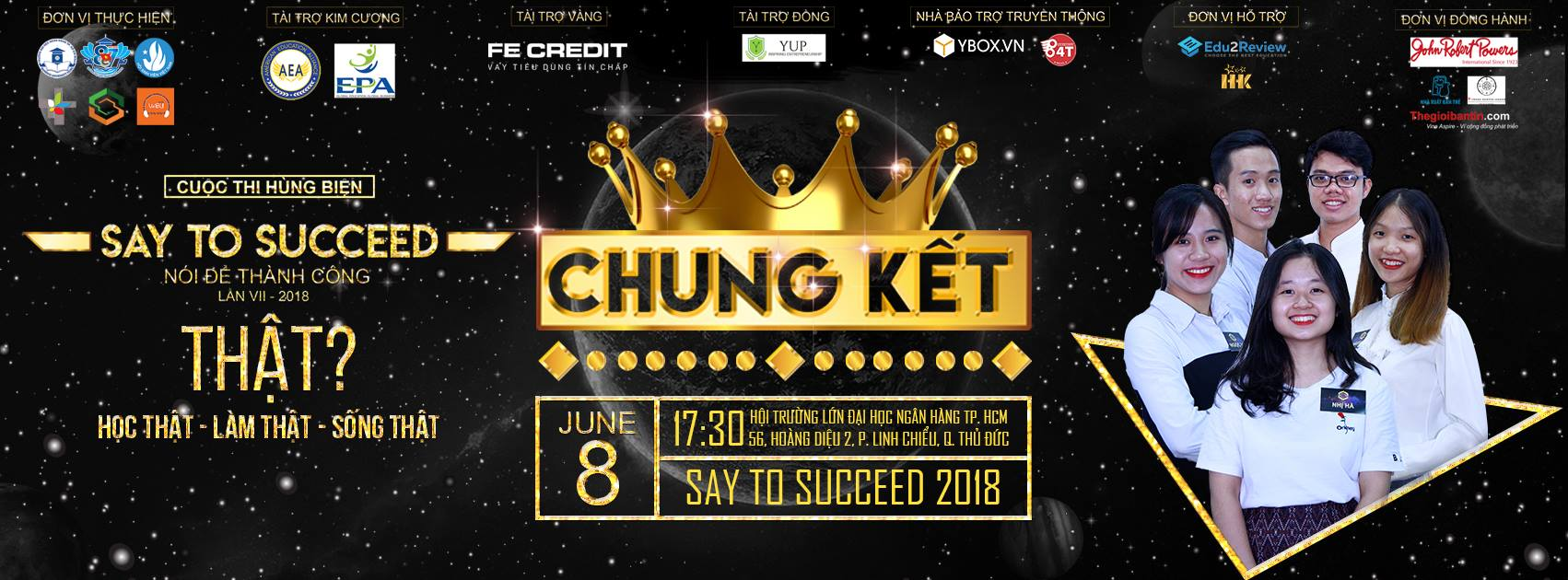 "08/06/2018 – Chung kết cuộc thi ""Say to Succeed 2018"""