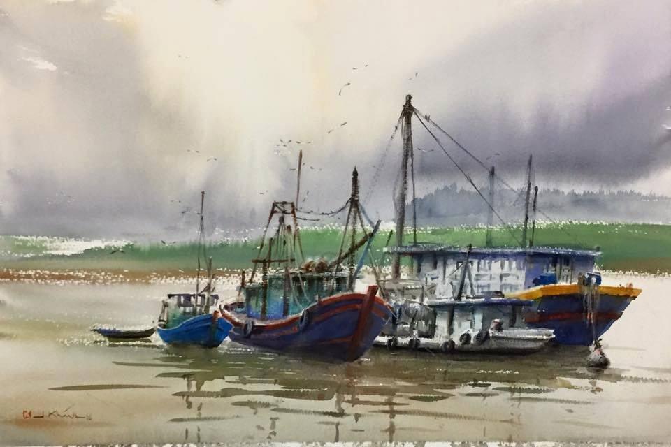 Đồ Sơn rất lạ qua bộ tranh vẽ của họa sỹ Bùi Duy Khánh