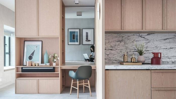 Vỏn vẹn 33m², căn hộ của cặp vợ chồng trẻ gây sốt vì quá tiện nghi và trông như rộng gấp đôi