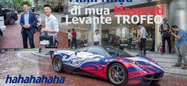Phạm Trần Nhật Minh lái PAGANI đi mua Maserati LEVANTE TROFEO